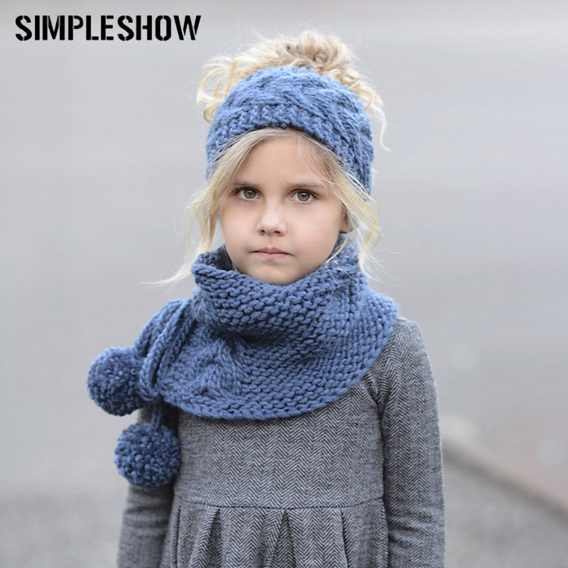 3f86910cf97 MUSEYA Kids Warm Winter Hat Scarves Set Fox Cat Earflap Hats and Knitted  Coif Hood Scarf