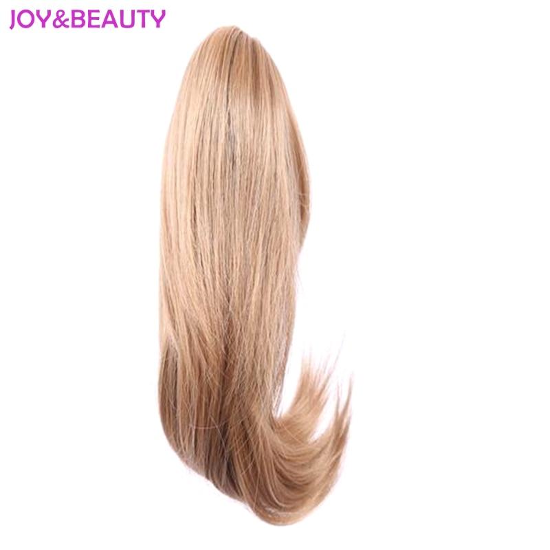 Glädje och skönhet syntetiskt hår med klipp ponny svans klår hår hårhästsvans hår förlängningar hårstycke 12 tum lång 5 färg