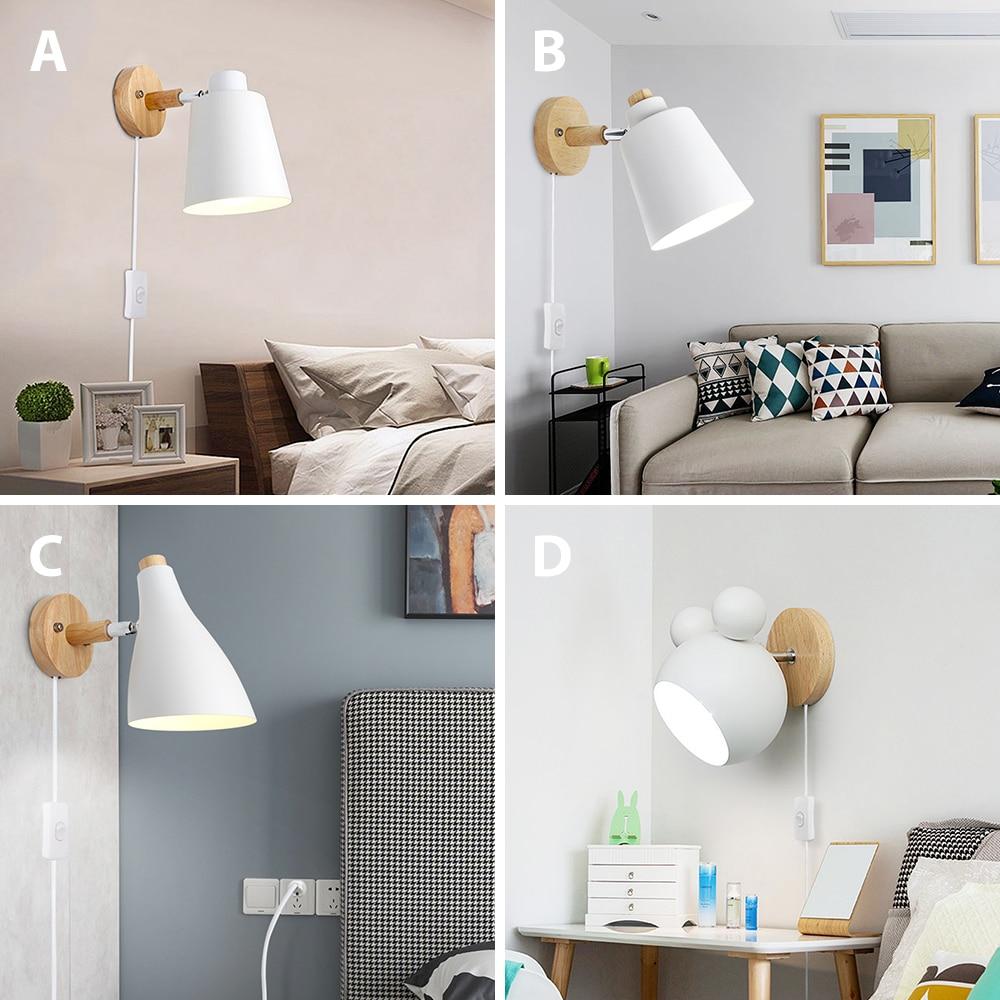 lampada de parede madeira com plugue 02