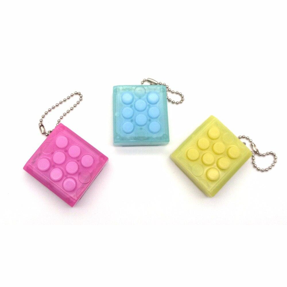 Anti Stress Jouets Électronique Bubble Wrap Porte-clés Pop Infini Chaude Puchi Keychain De Voiture Porte-clés Couleur Aléatoire