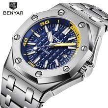 New BENYAR Fashion Men Watches Male 5123M Brand Luxury Quartz Watch Men Casual Waterproof