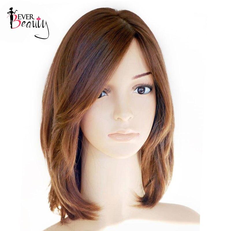 Perruque casher juive Base en soie européenne vierge cheveux droit court Bob perruques de cheveux humains côté frange perruque toujours beauté
