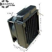 SXDOOL 80mm aluminium heizkörper fan enthalten wasser kühlung