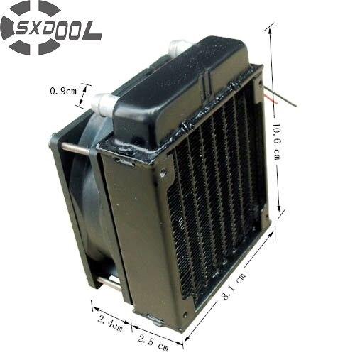 SXDOOL 80mm ventilateur de radiateur en aluminium inclus refroidissement par eau