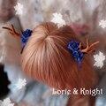 Handmade Chifre de Veado & Flor Lolita Mori Menina Hairpin Um Par de