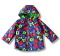 children/kids/girls nice floral jacket, waterproof jacket, floral coat, thin padded with fleece lining, spring/autumn jacket