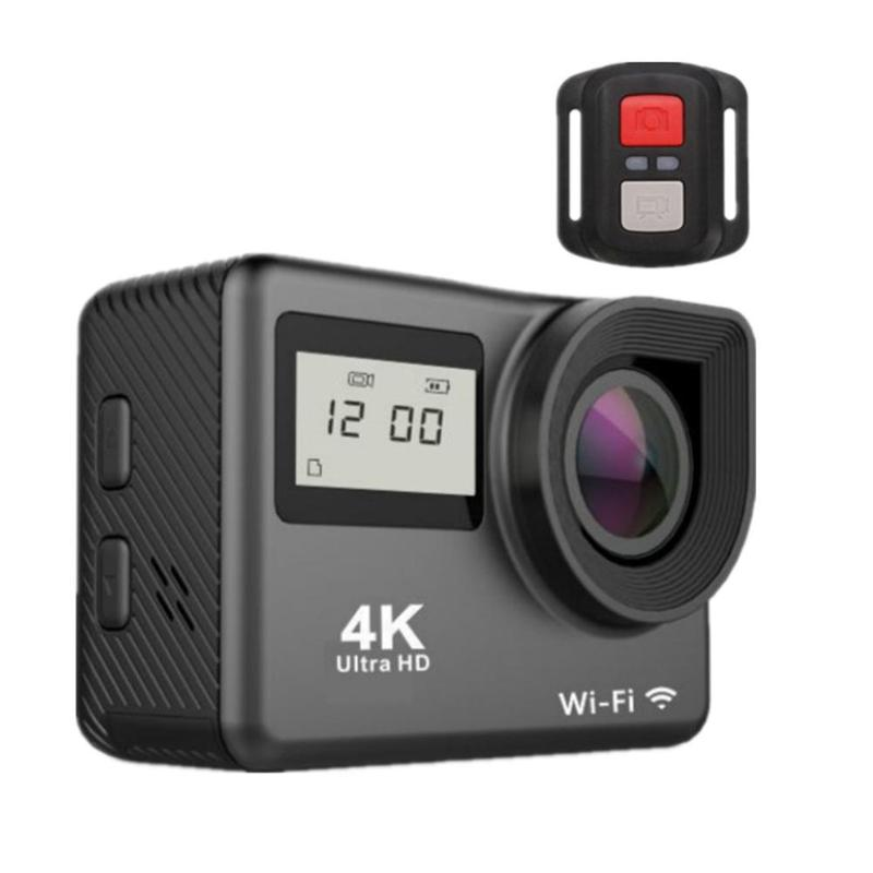 4K Action Camera 2 0 quot Touch Screen WIFI Dual Screen 12MP Helmet Camera 30m DV 170 Degree Wide Angle Lens Sport Cam in Sports amp Action Video Camera from Consumer Electronics