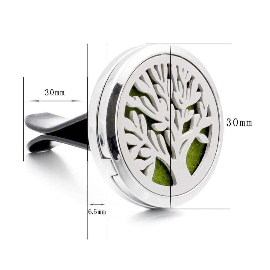 Árbol de la vida de la pata 30mm magnético de aceite esencial coche difusor medallón Clip de ventilación de aromaterapia medallón Perfume 10 piezas de envío de la gota