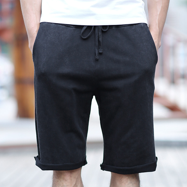 black cotton shorts mens