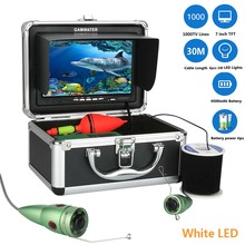 GAMWATER 7″ Inch HD 1000tvl Underwater Fishing Video Camera Kit 6pcs 1W White LEDs Lights Video Fish Finder 15M 20M 30M 50M