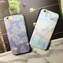 New Arrival Leaf Purple Flamingos Rainbow pattern Mobile Phone Case For iphone 6 6S 6Plus Soft
