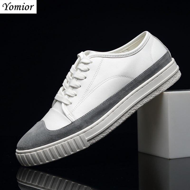 À up Chaussures Dentelle Confortable Nouveau Qualité Adulte Pour Mode Hombre Blanc Casual Yomior La Haute Mocassins Printemps De Hommes Zapatos qYc71F1