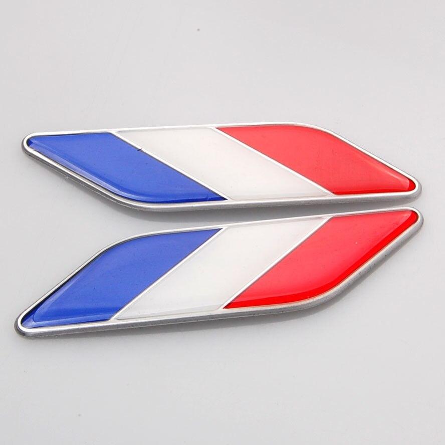af473ce10 3d fr فرنسا العلم ملصقات السيارات الحاجز الجانبية الجناح شارة شارات التصميم  للجولف بولو gti ford peugeot 307 206 208 كليو رينو kia