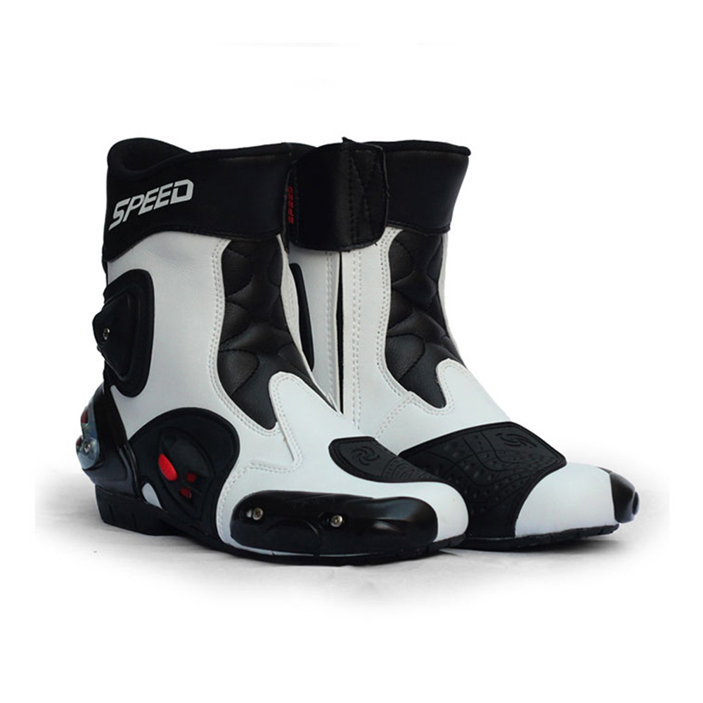 Pro SPEED Microfiber Leather motorcycle boots MOTO BOOTS bota motocross A004 motorcycle boots men shoes bottes