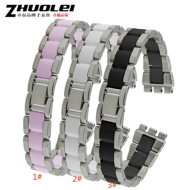 Nueva banda de Cerámica De Alta calidad con correa de Metal pulseras mujeres hombres 17mm cerámica venda de reloj para YGS716 YAS100 YLS141
