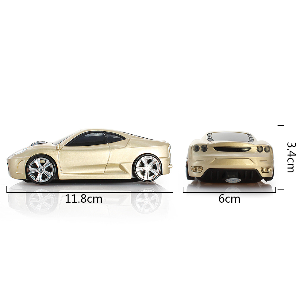 Купить с кэшбэком CHYI Wireless Mouse Ergonomic 2.4Ghz 1600 DPI Scuderia Coupe F430 Superfast Sports Car Mouse For PC Laptop Desktop Supercar Mice