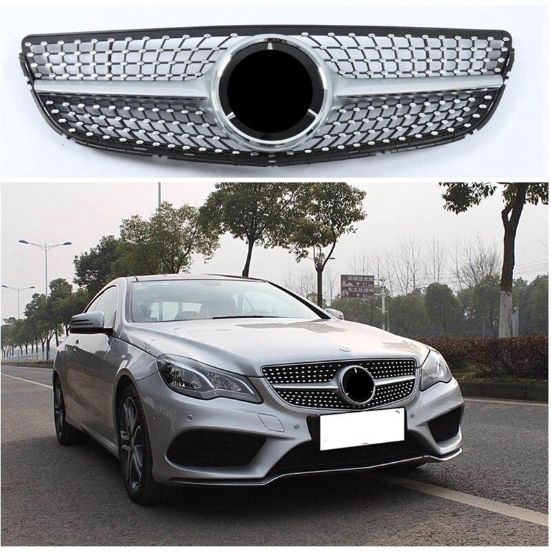 W212 Facelifted Diamante Anteriore Da Corsa Griglia Della Griglia per Mercedes-Benz W212 E-classe C207 Colpo di stato E180 E300 Nero /argento 2013 2014 2015