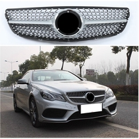 W212 Facelifted Diamond Front Racing Grill Grille for Mercedes Benz W212 E class C207 Coup E180 E300 Black/Silver 2013 2014 2015