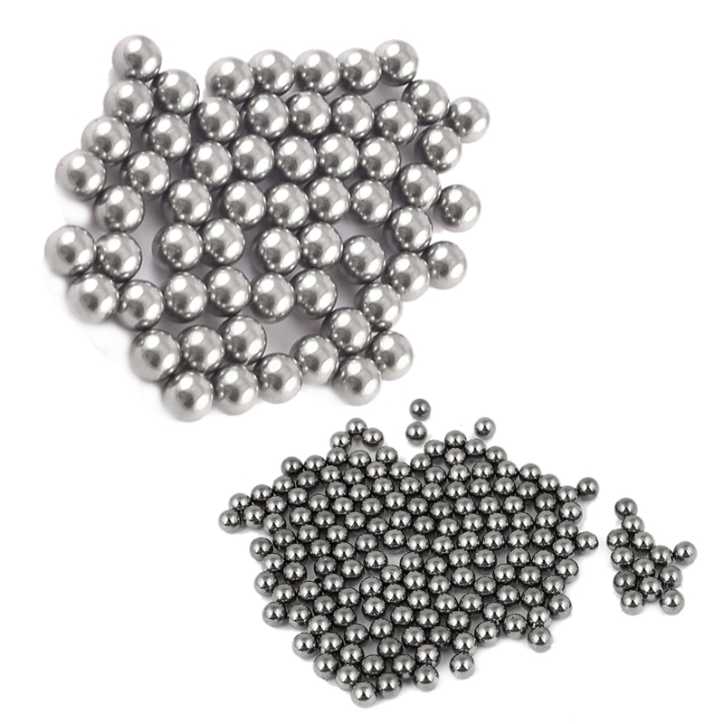 100Pcs OD 7mm G 100 Replacement Stainless Bicycle Wheel Steel Ball Bearing
