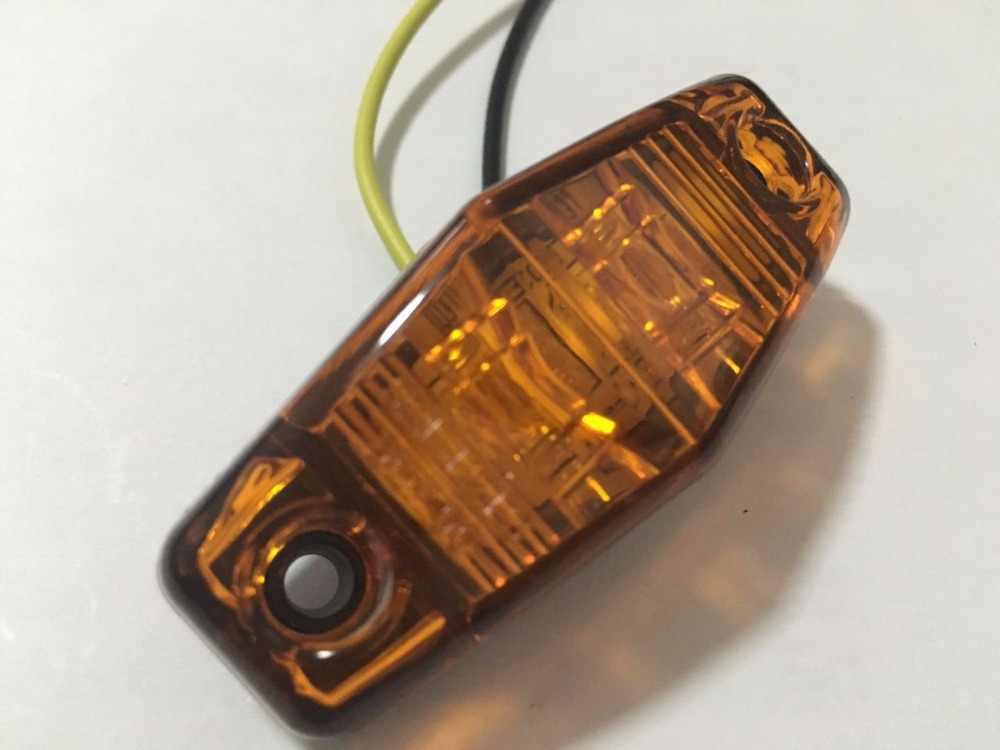 1x LED Zijmarkeringslamp Ontruiming Lamp 12V 24V E-gemarkeerd Auto Truck Trailer BUS Rear lamp externe Lights Parking lights atv