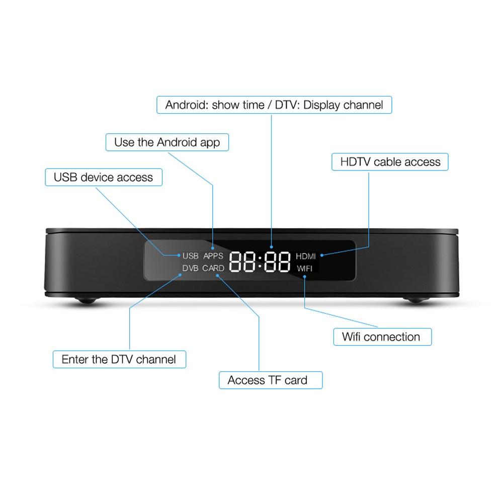 2019 MECOOL K6  Smart TV Box DVB-S2 DVB-T2 DVB-C Android 7.0 HiSilicon HI3798M 2GB+16GB  Media player Dual Wifi  Set Top Box