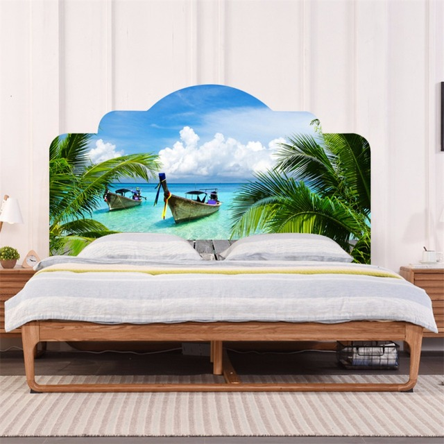 yanqiao palm leaves tropical tree beach wall sticker bedroom decoryanqiao palm leaves tropical tree beach wall sticker bedroom decor headboard mural wallpaper home decoration