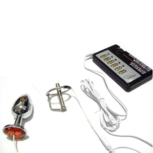 Electric Shock Stainless Steel Urethral Male Sounding Sex Toy For Men Sexual Toys Accessory Electro Shock Penis Plug penis enlarger male sexual massager electric shock medical sex toy for man pro expander