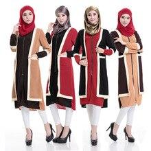 Djellaba Linen Broadcloth Adult Islamic Clothing For Women Abaya Turkish 2016 New Muslim Dress Short Sleeve