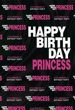 Laeacco Happy Birthday Poster Baby Girl Princess Photography Backdrops Customized Photographic Background For Photo Studio allenjoy photographic background european royal family living room backdrops princess boy studio fabric 7x5ft