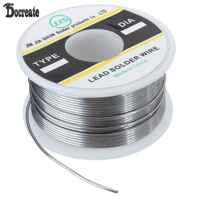 100g 1mm Tin Lead Rosin Core Soldering Solder Iron Wire Flux Reel ...