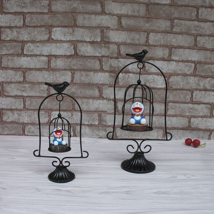 DIY Home Desktop Decoration Accessories Resin Jingle cats Craft Wrought Iron Swing Ornament Novelty Birthday Christmas gift