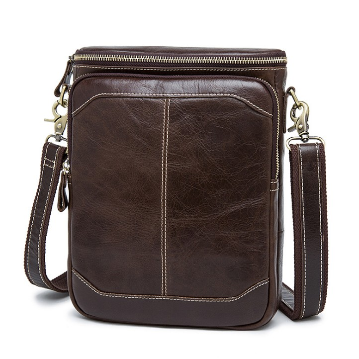 Our ReALIty 1 arrival Genuine Leather Small Flap Bussiness Men Daily Vintage Crossbody Bag Great Gift for Father EGT0132