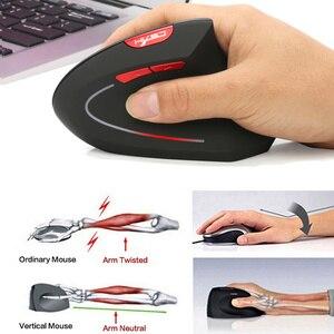 Image 2 - HXSJ new vertical wireless mouse 2.4G ergonomic wireless mouse 2400DPI adjustable for PC notebook USB2.0 black gray