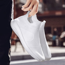 Men Shoes Low Top White Male Sneakers Men's Breathable Slip On Athletic Walking Running  vulcanized Shoes Sneakers suede low top slip on sneakers