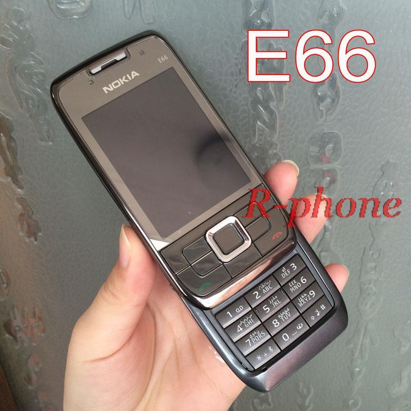 Цена за Оригинал Восстановленное Nokia E66 Mobile Phone 2 Г 3 Г Разблокирована Арабский Русская Клавиатура