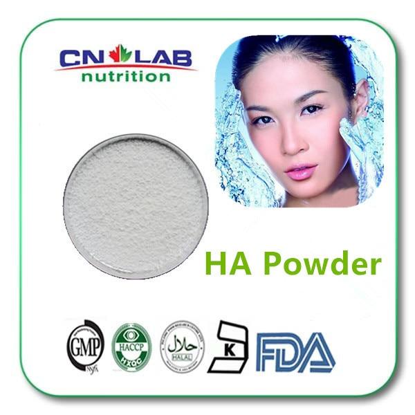 100% natural Cosmetic grade Hyaluronic Acid Powder in skin care serum