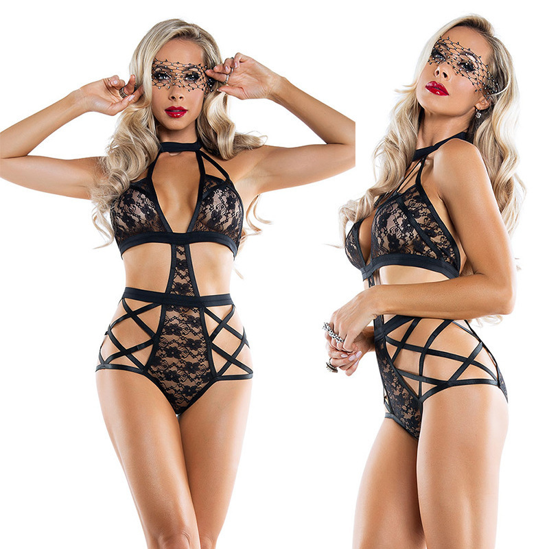 Women <font><b>Sexy</b></font> lingerie <font><b>hot</b></font> erotic Costumes <font><b>Sexy</b></font> Lingerie Lace <font><b>Dress</b></font> Cosplay Babydoll See-through Underwear Exposed Bra Nightwear image