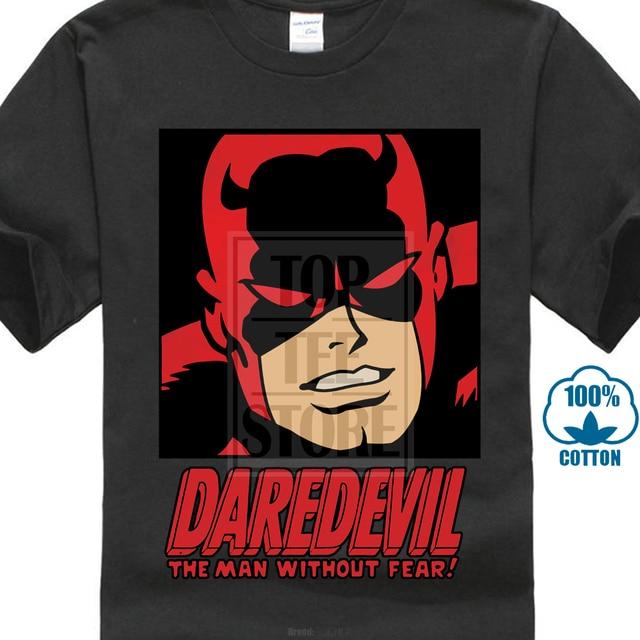 6836f4416a6 Mens Daredevil T-Shirt Cool Fashion Leisure Brand Tee Shirt Homme Cotton  Marvel Movie Tshirt Funny Agent T Shirt O-Neck