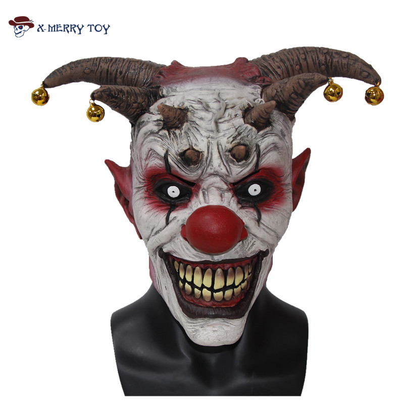 X-Merry Toy Jingle Jangle The Clown Horror Latex Halloween Scary Head Mask Free Shipping x12048