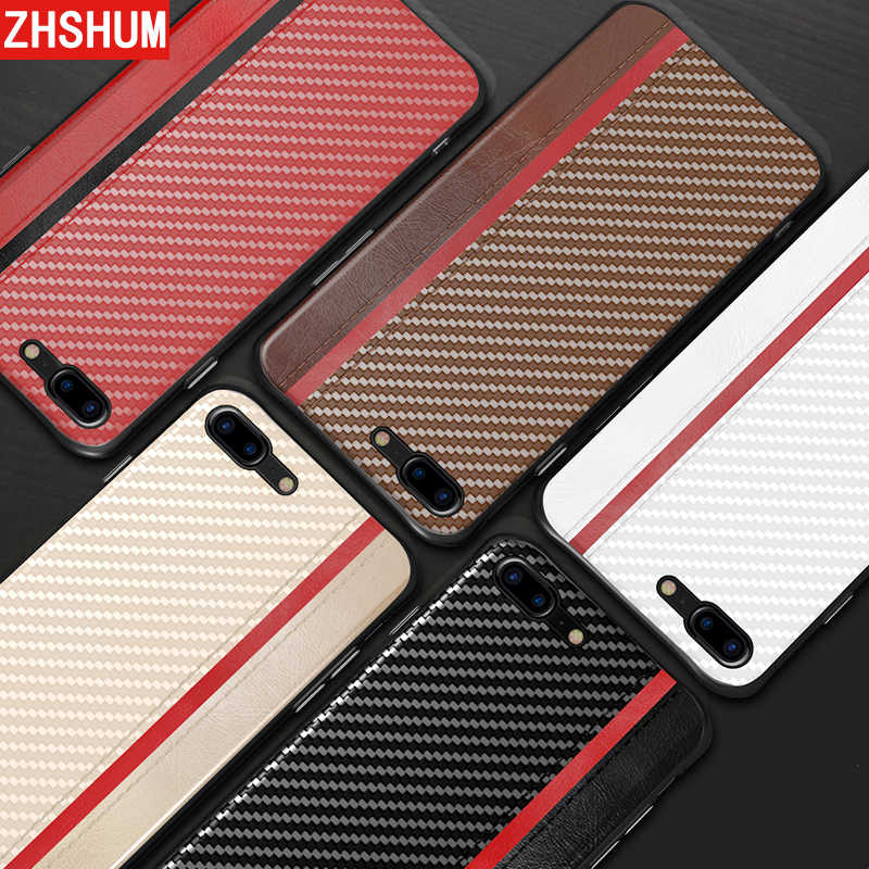 Funda de fibra de carbono de lujo para Iphone XS MAX XR X Iphone 8 7 Plus 6s funda trasera de cuero PU para Iphone 6 De Apple XS