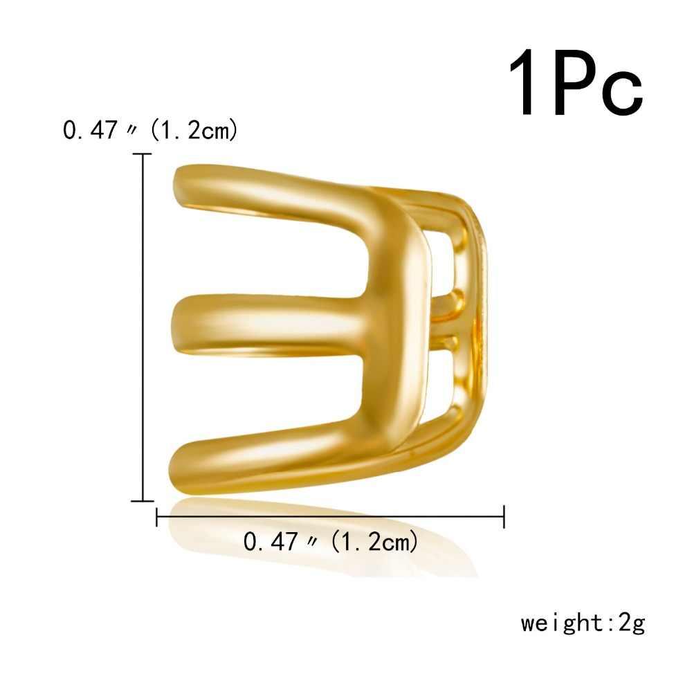 1Pcs คลิปหูอารมณ์ง่าย Unisex แฟชั่นเครื่องประดับกระดูกอ่อน Punk ROCK Cuff 3 สี Wrap ไม่มี piercing-CLIP ต่างหู
