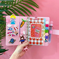 Творческий каваи DIY Kawaii A6 из искусственной кожи с отрывными листами  спиральный блокнот ежедневник еженедельник сделать это руки книгу для ...