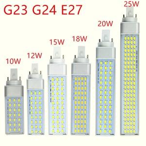 Image 1 - G23 G24 E27 Led Lamp 10W 12W 15W 18W 20W 25W 5730 Licht warm Wit/Cool White Spotlight 180 Graden Horizontale Plug Licht