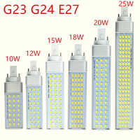 G23 g24 e27 lampe à LED ampoule 10 W 12 W 15 W 18 W 20 W 25 W 5730 lumière blanc chaud/blanc froid projecteur 180 degrés lumière horizontale