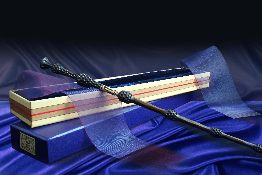 New Arrive Metal Core Dumbledor Elder Magic Wand/Harry Magical Wand/Original Ribbon Gift Box Packing Free Train Ticket
