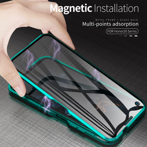 Image 5 - Magnetic Metal Case for Huawei P30 P20 Mate 20 X 10 Honor 20 10 Pro Lite 8x 20i V20 Nova 5 5i 4e 3e P Smart Plus Z Y9 2019 Cover
