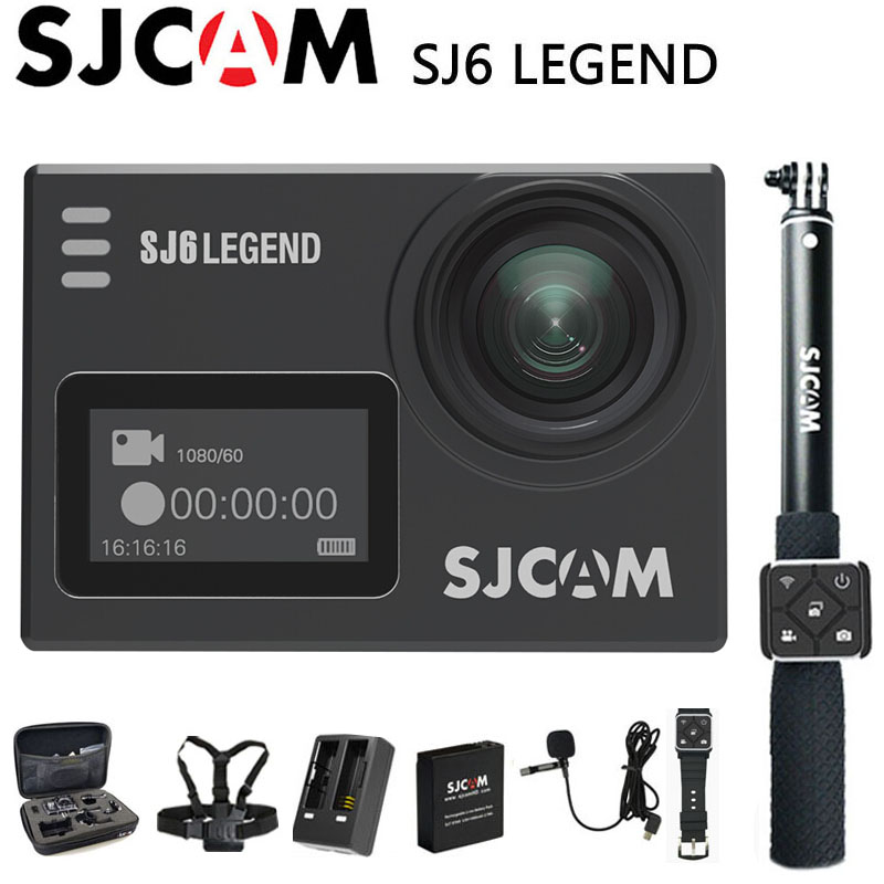 SJCAM SJ6 Legend Action Camera Sports DV 4K Wifi 30m Waterproof 1080P Ultra HD 2 Touch Screen Notavek 96660 Remote Original Cam sjcam sj6 legend wifi action camera notavek 96660 ultra hd 4k 24fps 1080p waterproof 2 0 touch screen remote sports dv kamera