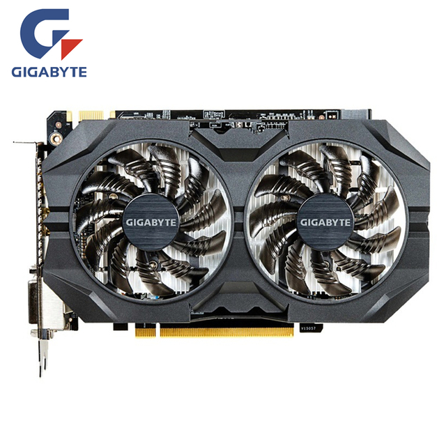 US $90 66 |GIGABYTE Video Card Original GTX950 2GB 128Bit GPU Graphics  Cards For nVIDIA Geforce GTX 950 PCI E X16 Map Videocard Cards-in Graphics