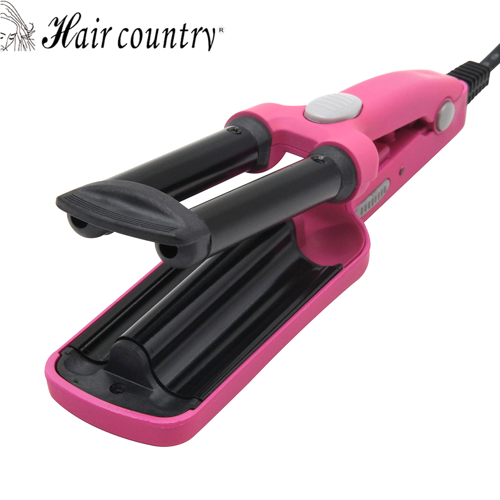 Hair Country Mini 3 Barrels Hair Curler Magic Ceramic Curling Irons Roller Hair Iron Styler Hairstyle Tools 110-240V kemei km 2022 electric ceramic curler with three perm rolls magic hair curlers curling iron hairstyle tool