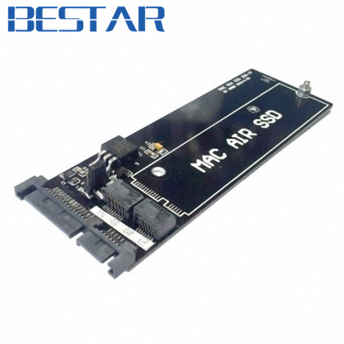 For MacBook Air SSD HDD to SATA 22Pin Hard Disk Cartridge Enclosure Drive PCBA adapter card  low profile half height 50mm mini pci e msata ssd to 7mm 2 5 sata 22pin hard disk drive hdd pcba